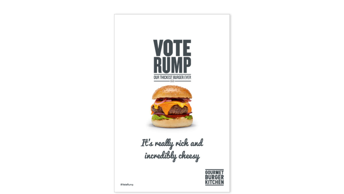 Vote Rump: our thickest burger ever
